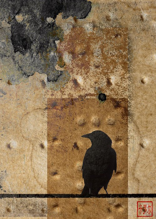 Crow Greeting Card featuring the photograph Braille Crow by Carol Leigh