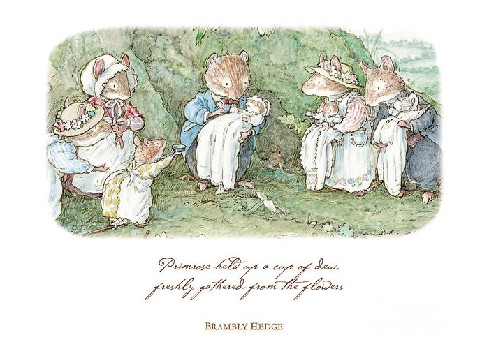 Brambly hedge naming ceremony greeting card for sale by brambly hedge brambly hedge greeting card featuring the drawing brambly hedge naming ceremony by brambly hedge m4hsunfo