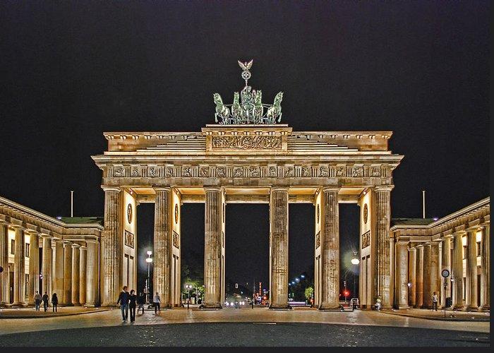 Brandenburger Tor Greeting Card featuring the photograph Brandenburg Gate by Joachim G Pinkawa