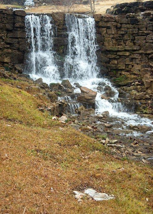 Waterfall Greeting Card featuring the photograph Branson Waterfall 4 by Douglas Barnett