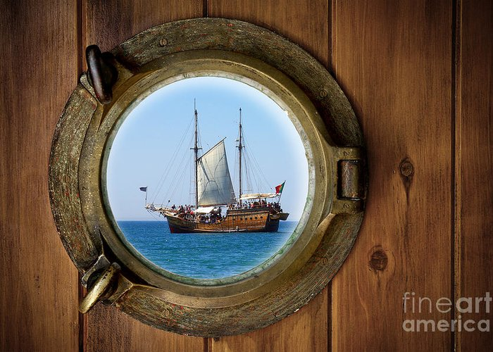 Pirate Ship Greeting Cards