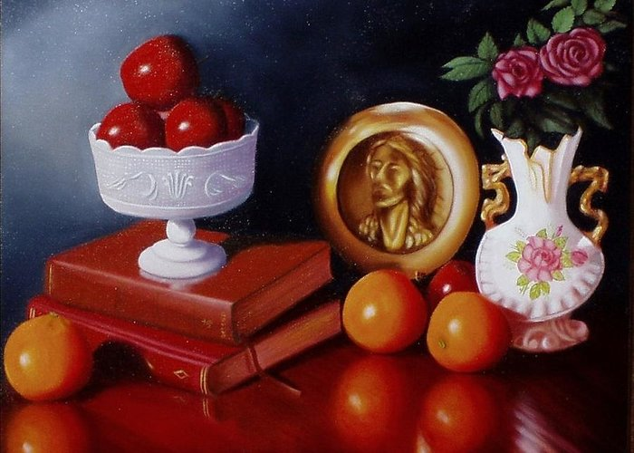 Still Life Greeting Card featuring the painting Bravo by Gene Gregory