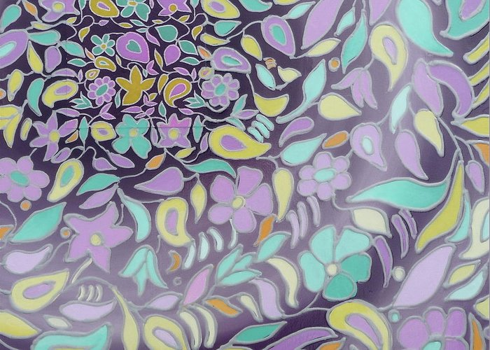 Abstract Greeting Card featuring the painting Brb - Be Right Back by Tammy Watt