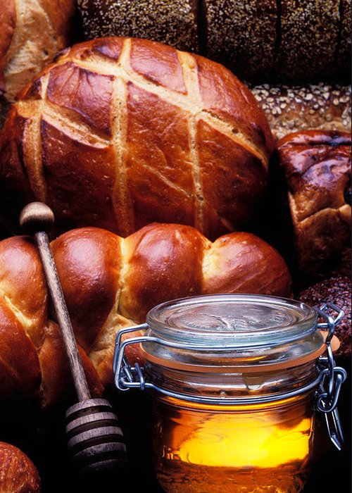 Bread Greeting Card featuring the photograph Bread And Honey by Garry Gay