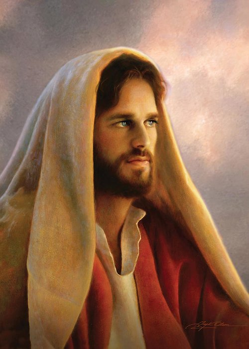 Jesus Greeting Card featuring the painting Bread Of Life by Greg Olsen