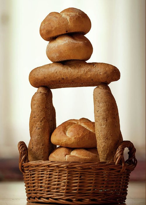 Bread Greeting Card featuring the photograph Bread Tower by Stefan Rotter