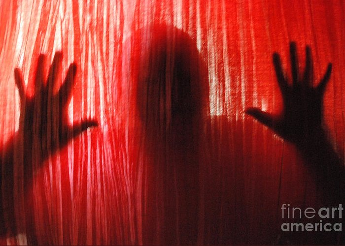 Person Greeting Card featuring the photograph Break Through 01 by Sean-Michael Gettys