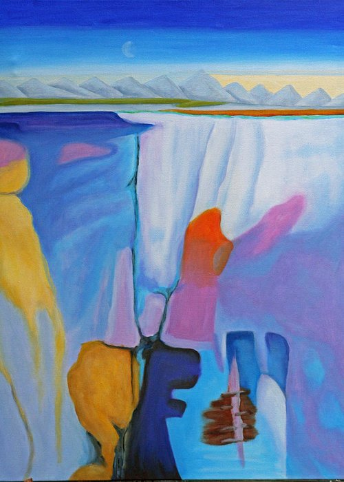 Landscape Greeting Card featuring the painting Breakup by Lynn Soehner