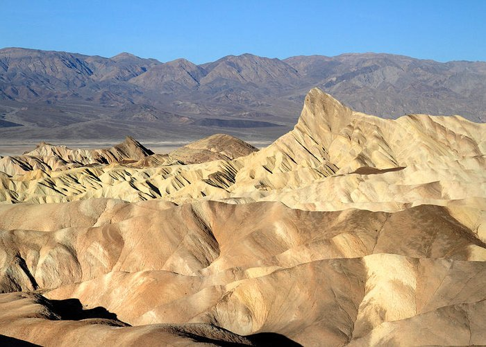 Death Valley Greeting Card featuring the photograph Breath Taking Landscape Of Zabriskie Point by Pierre Leclerc Photography
