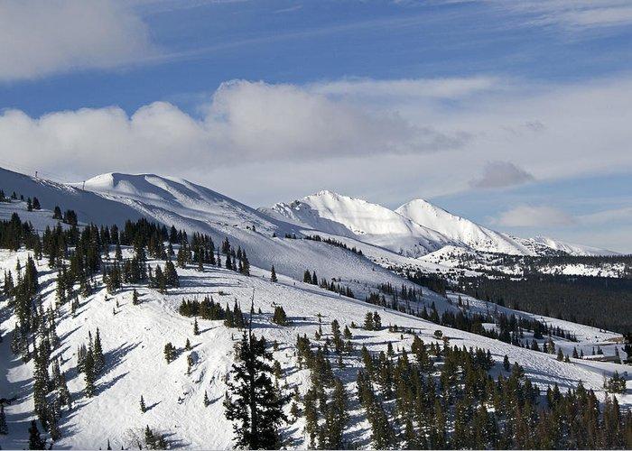 Breck Greeting Card featuring the photograph Breckenridge Resort Colorado by Brendan Reals