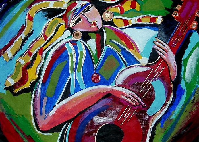 Music Greeting Card featuring the painting Breezy by Gina Hulse