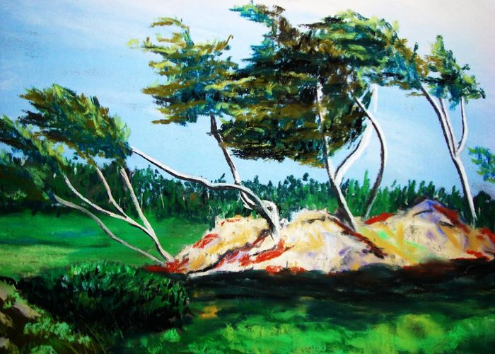 California Greeting Card featuring the painting Breezy by Melinda Etzold