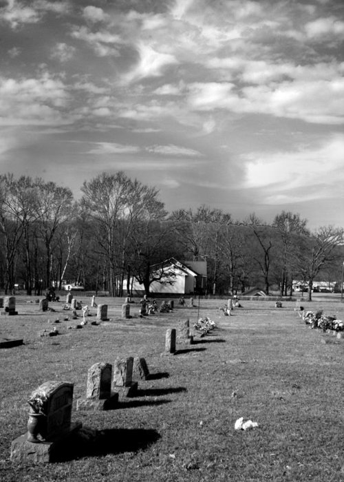 Ansel Adams Greeting Card featuring the photograph Brentway-cemetery by Curtis J Neeley Jr