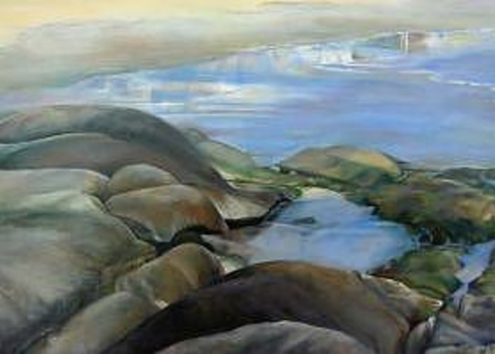 Paysage Greeting Card featuring the painting Bretagne 1 by Muriel Dolemieux