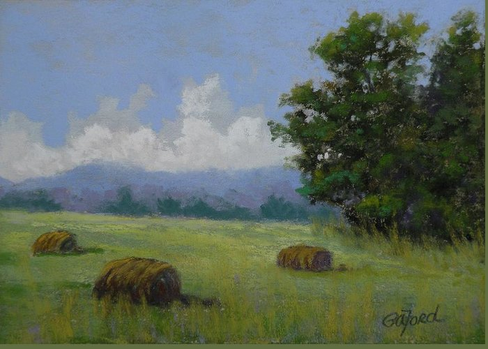 Pastel Greeting Card featuring the painting Brewing by Paula Ann Ford