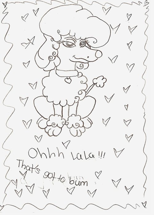 Greeting Card featuring the drawing Briana L by Briana L