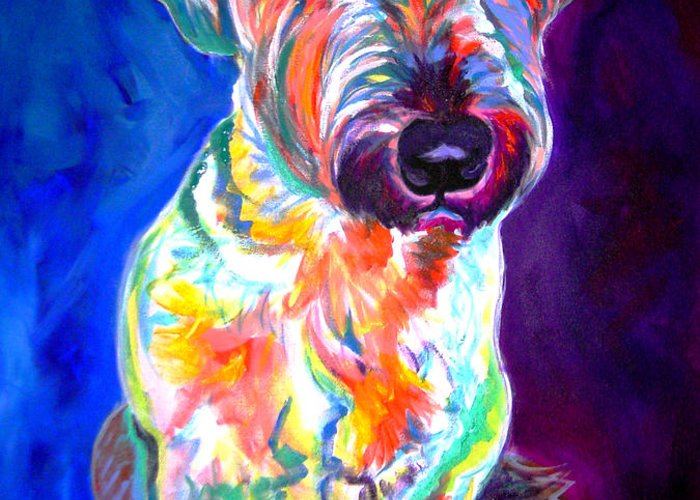 Briard Greeting Card featuring the painting Briard - Albert by Alicia VanNoy Call