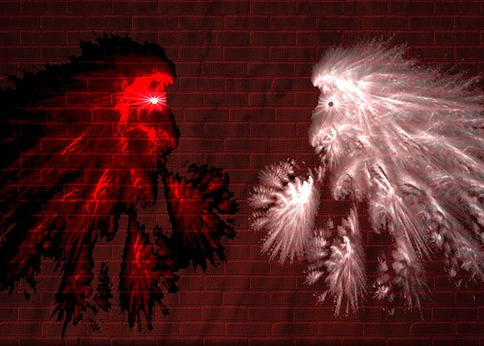 War Greeting Card featuring the digital art Brick Graffiti by Evelyn Patrick