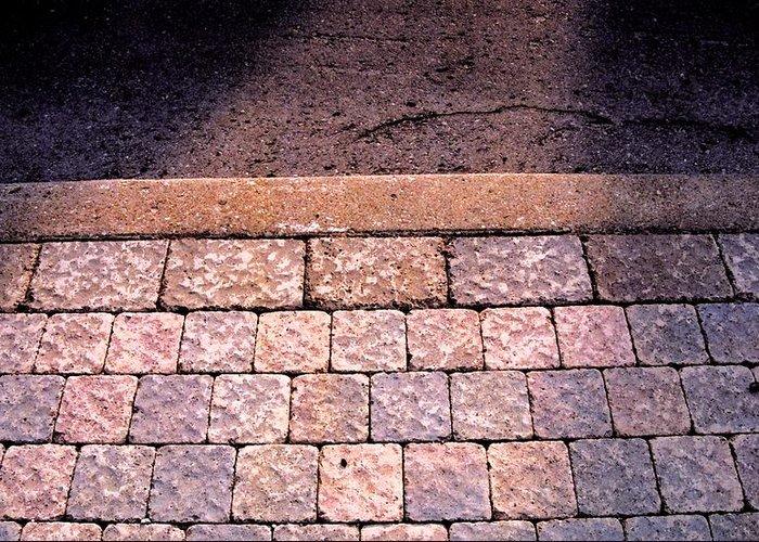 Sidewalk Greeting Card featuring the photograph Brick Sidewalk 3 Wc by Lyle Crump