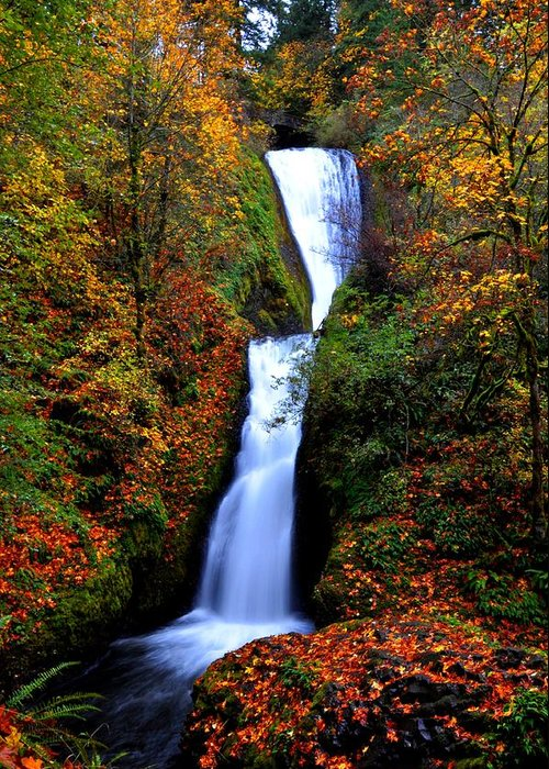 Stream Greeting Card featuring the photograph Bridal Veil Falls by Noah Cole