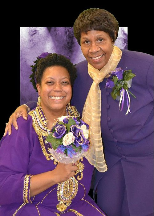 Greeting Card featuring the photograph Bride And Aunt by Ruben Dixon