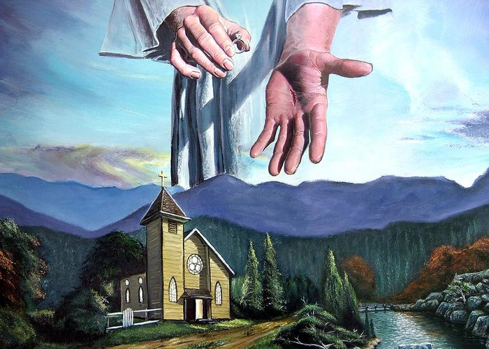 Bridegroom Greeting Card featuring the painting Bridegroom by Larry Cole