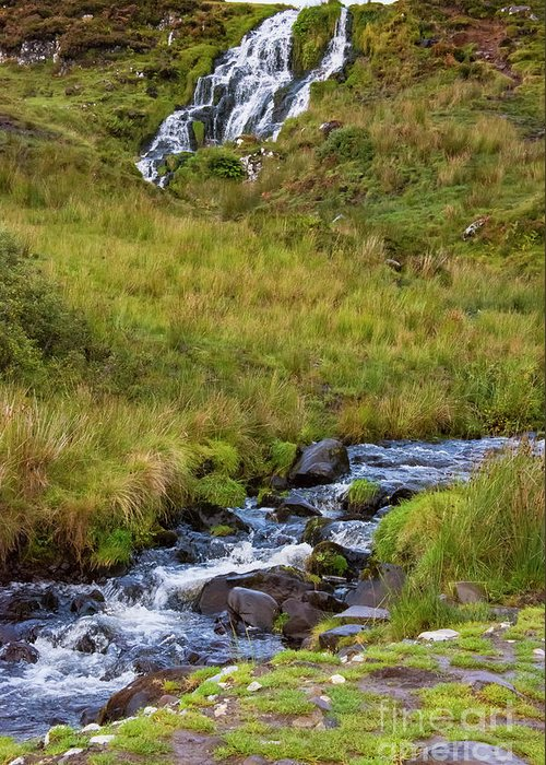 Isle Of Skye Greeting Card featuring the photograph Brides Veil Waterfall by Bob Phillips