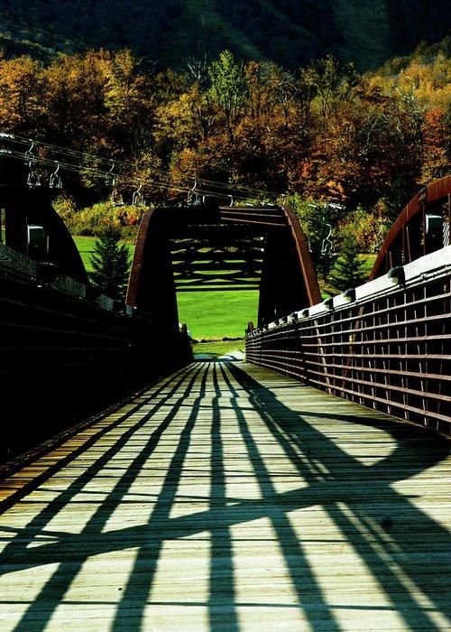 Photograph Greeting Card featuring the photograph Bridge At Killington by Susan Schumann