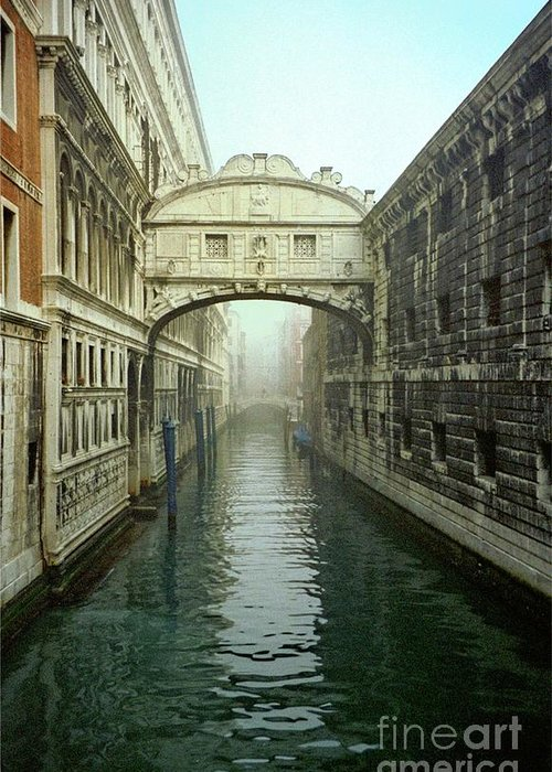 Venice Greeting Card featuring the photograph Bridge Of Sighs In Venice by Michael Henderson