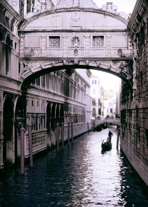 Italy Greeting Card featuring the photograph Bridge Of Sighs by Warren Home Decor