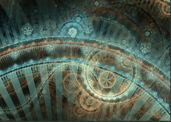 Fractal Greeting Card featuring the digital art Bridge Of Time by David April