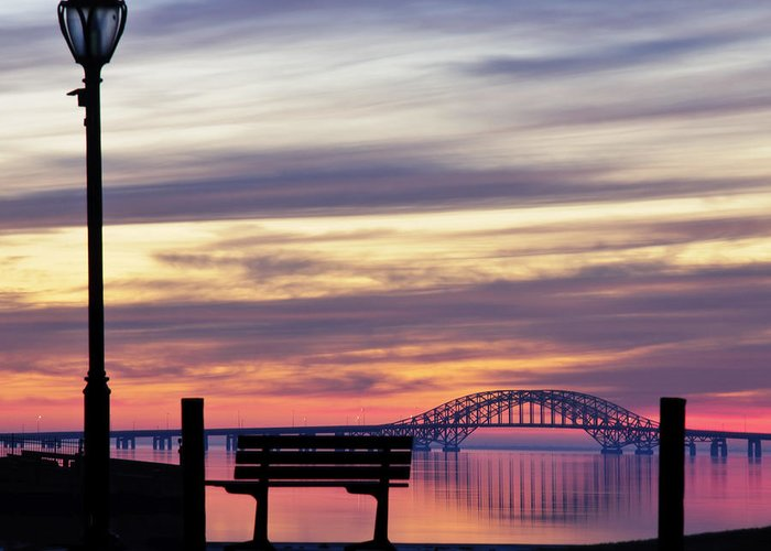 Bridge Greeting Card featuring the photograph Bridge Reflection by Vicki Jauron