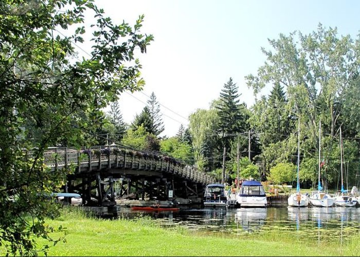 Yahcts Greeting Card featuring the photograph Bridge To The Club by Ian MacDonald