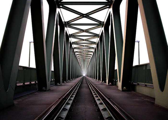Bridge Greeting Card featuring the photograph Bridge by Zoltan Toth