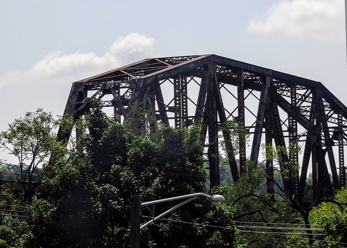 Train Greeting Card featuring the photograph Bridges of Knoxville by Linda A Waterhouse