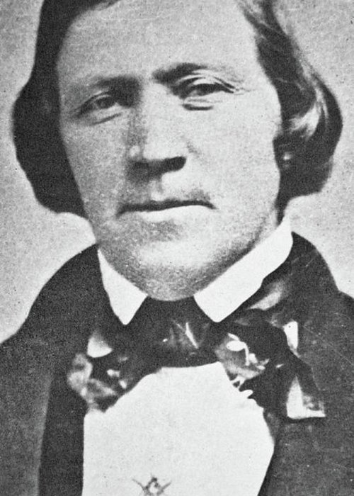 Brigham Young Greeting Card featuring the photograph Brigham Young Second President Of The Mormon Church, Aged 43, 1844 by American School
