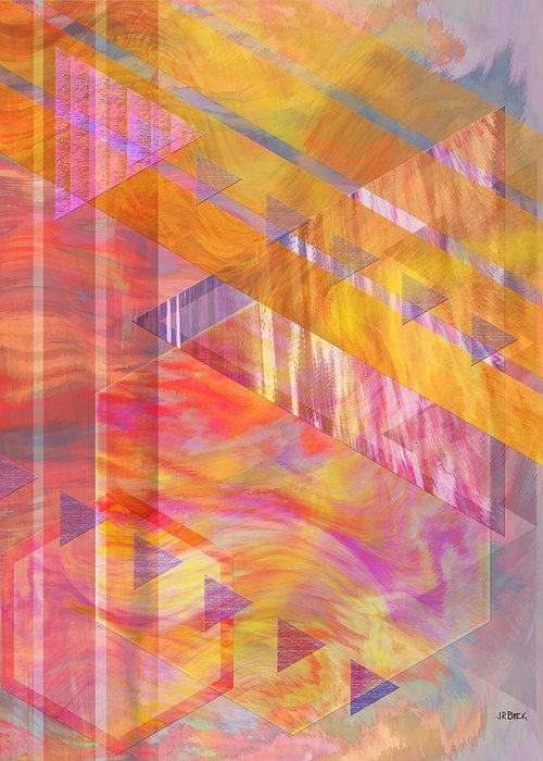 Affordable Art Greeting Card featuring the digital art Bright Dawn by John Beck