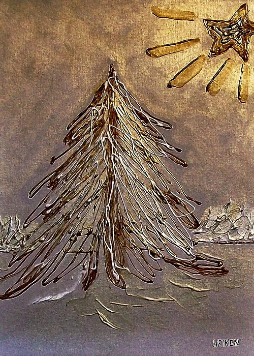 Painting Greeting Card featuring the painting Bright Star For Light by Marsha Heiken
