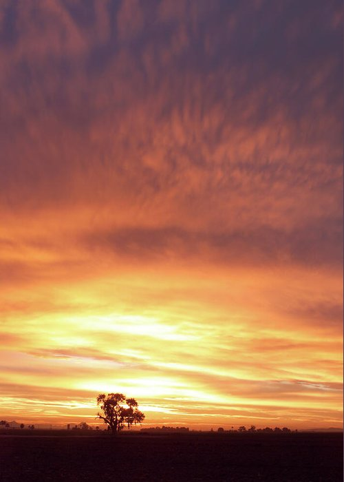 Landscape Greeting Card featuring the photograph Bright Sunset by Scott Sawyer
