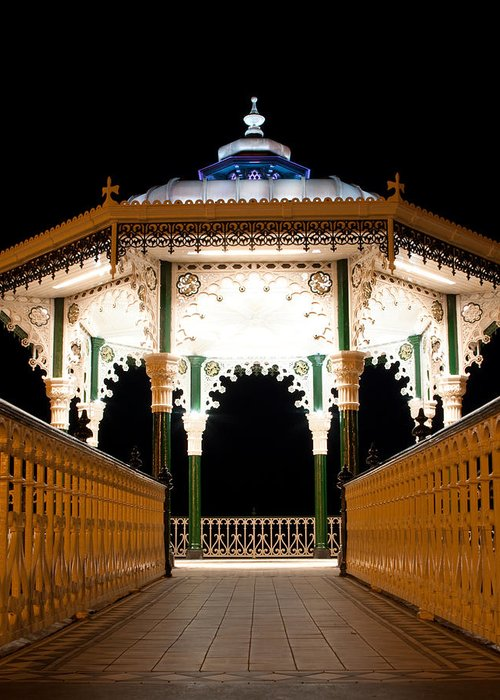 Brighton Greeting Card featuring the photograph Brighton Bandstand by Darren Kearney