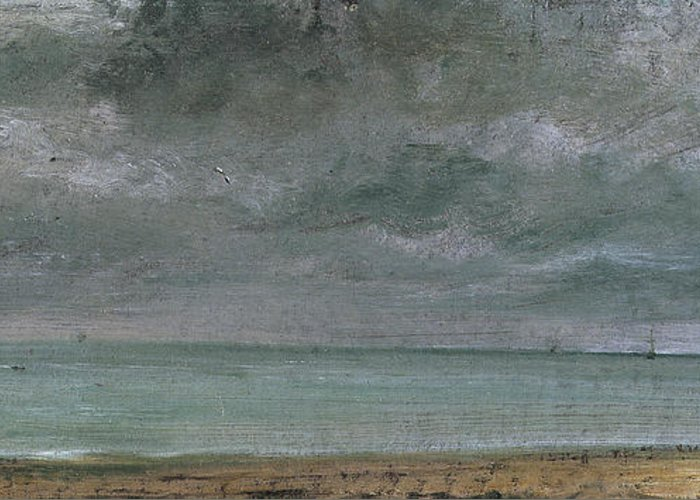 Brighton Greeting Card featuring the painting Brighton Beach by John Constable