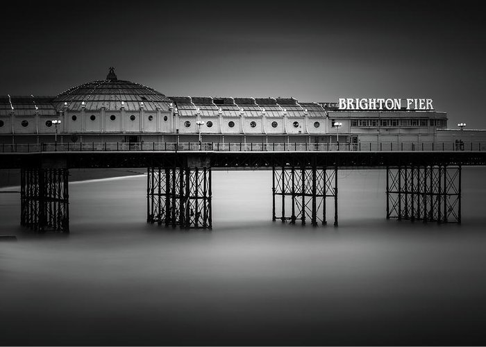 Brighton Pier Greeting Card featuring the photograph Brighton Pier, England by Ivo Kerssemakers