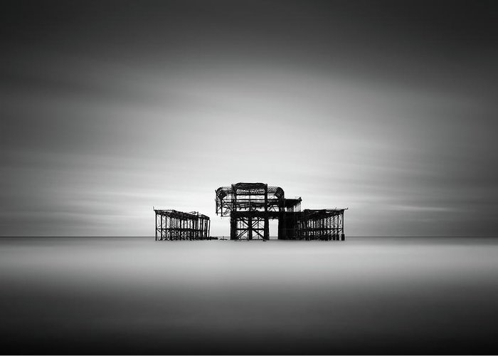 West Pier Greeting Card featuring the photograph Brighton West Pier by Ivo Kerssemakers
