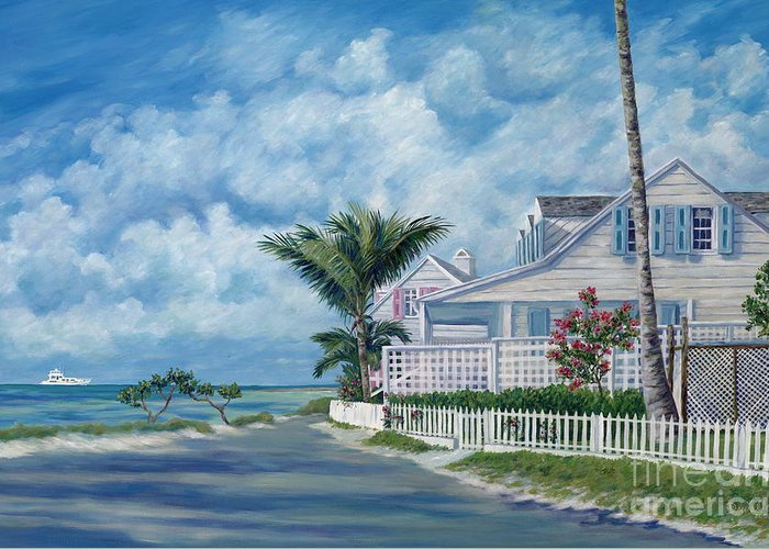 Harbor Island Greeting Card featuring the painting Briland Breeze by Danielle Perry