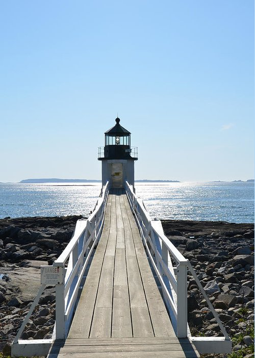 Lighthouse Greeting Card featuring the photograph Brilliant Light by Corinne Rhode
