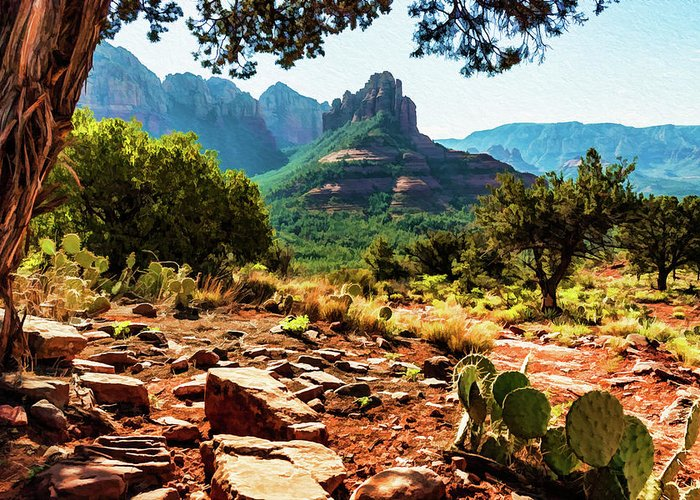 Sedona Greeting Card featuring the photograph Brins Mesa 07-196 by Scott McAllister