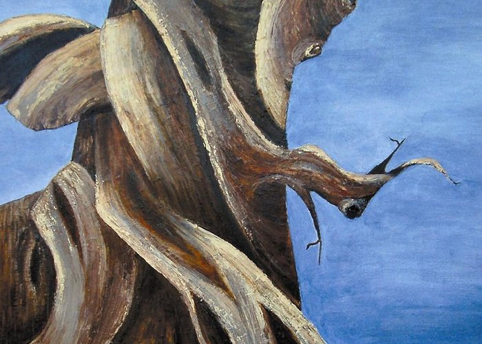 Bristlecone Greeting Card featuring the painting Bristlecone Tree No. 1 by Wanda Pepin