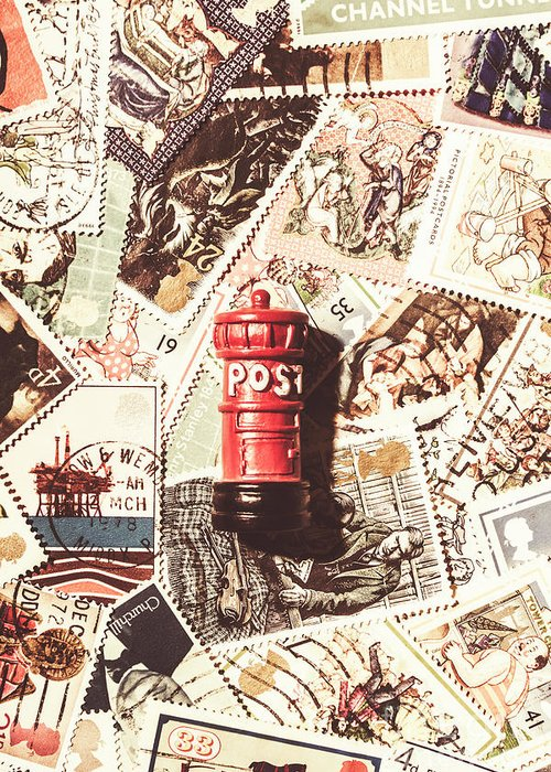 England Greeting Card featuring the photograph British Post Box by Jorgo Photography - Wall Art Gallery