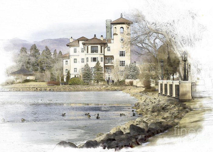 Broadmoor Hotel Greeting Card featuring the photograph Broadmoor Hotel by Nancy Forehand