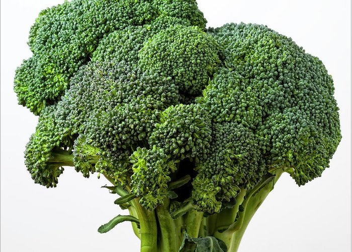 Broccoli Greeting Card featuring the photograph Brocolli by Robert Ullmann